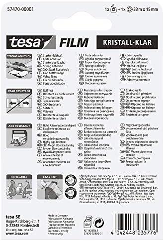 Tesa 57470 00001 01 Tesafilm Sticking Tape Crystal Clear 33 M X 15 Mm Easy Cut Holder Transparent Baumarkt
