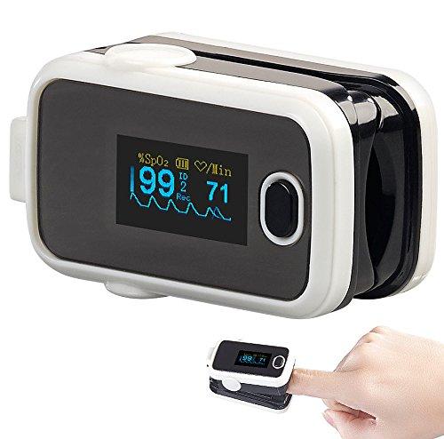 newgen medicals Pulsoxymeter: Medizinischer Finger-Pulsoximeter mit OLED-Display und USB-Anschluss (Pulsoximeter mit Aufzeichnung)