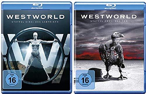 Westworld Staffel 1+2 / Das Labyrinth + Das Tor / Die Serie [Blu-ray Set]