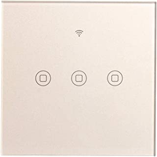 Smart Touch AC lichtschakelaar, wifi-app, wandschakelaar, draadloos, met afstandsbediening 3 gangs Sw86-3