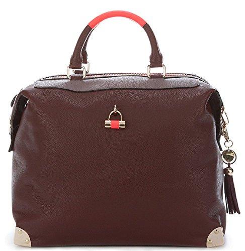 Paul 's Boutique Harriet Tasche mit Vorhängeschloss, extragroß, Burgunderrot