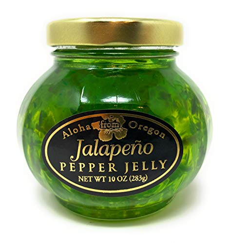 Aloha From Oregon Jalapeno Pepper Jelly in a 10 Ounce Glass Jar