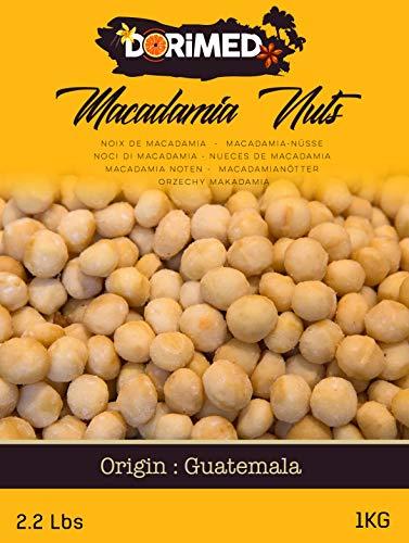 Noci Macadamia 100% Naturali Sgusciate Intere Crude Grandi [1Kg]. Noci Sgusciate Di Macadamia, Frutta Secca Di Grosso Calibro 100% Naturale. Raw Nuts Di Prima Scelta. Snack Genuino, Gustoso - Dorimed