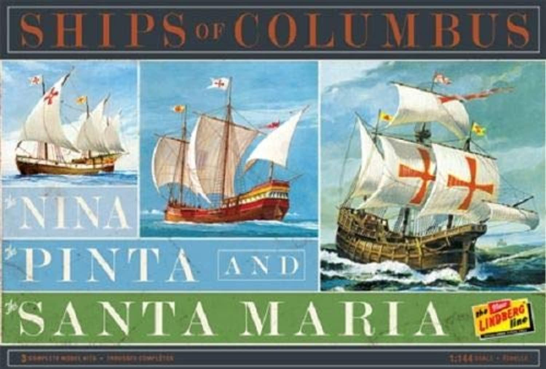 Nina, Pinta, and Santa Maria Saling Ship Model Kit