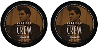 Bundle - 2 Items : American Crew POMADE FOR HOLD AND SHINE for Men, 3 Oz, Pack of 2