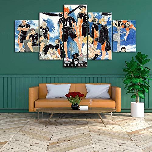 hmmsw 5 Paneles Pintura Arte Imagen HD Póster Computadora Tiburón Lienzo Pintura Sala De Estar Dormitorio Habitación De Los Niños Restaurante Cafetería Sin Marco Foto Decorativa-2