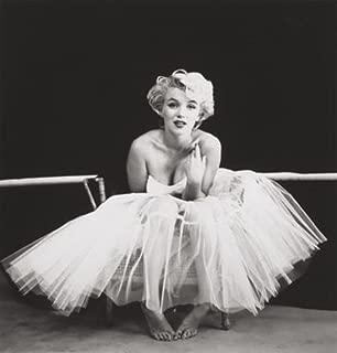 Pyramid America Marilyn Monroe White Dress Ballerina Sitting Milton H Greene Photograph from 1954 Cool Wall Decor Art Print Poster 16x16