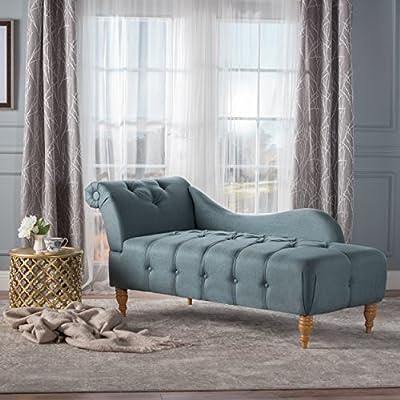 GDF Studio Antonina Plush Tufted Traditional Chaise Lounge