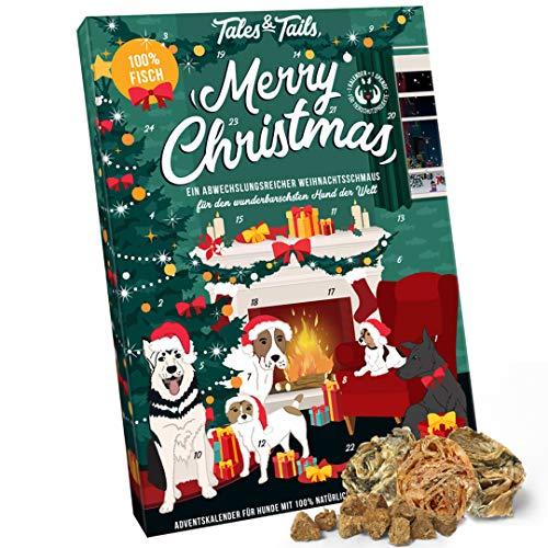 Tales & Tails® Adventskalender für Hunde, Weihnachtskalender für Vierbeiner mit 24 leckeren Kausnacks und Belohnungen