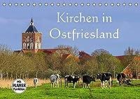 Kirchen in Ostfriesland (Tischkalender 2022 DIN A5 quer): Eine Auswahl der schoensten Kirchen an der Nordseekueste (Geburtstagskalender, 14 Seiten )