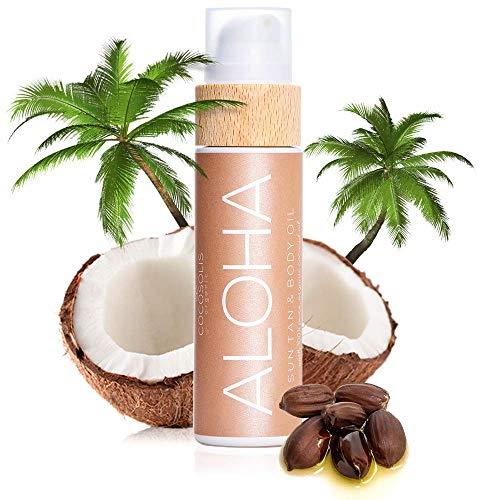 COCOSOLIS Aloha - Huile bronzante chocolat, huile Bio pour u