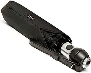 DAVEK Duet Umbrella - Extra-Large Windproof Umbrella with Automatic Open & Close (Black)