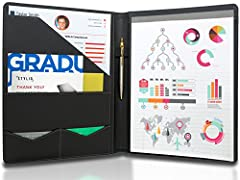 ✔ STYLE MEETS FUNCTION – Elegant design featuring convenient, safe pockets ideal for documents, business cards, travel tickets, pitch proposals & resumes. Includes a pen holder & refillable writing pad ✔ SLEEK & PROFESSIONAL – Make a strong first imp...