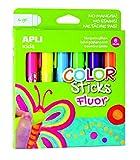 APLI Kids 14404 - Color Sticks fluorescente 6 g/6 u