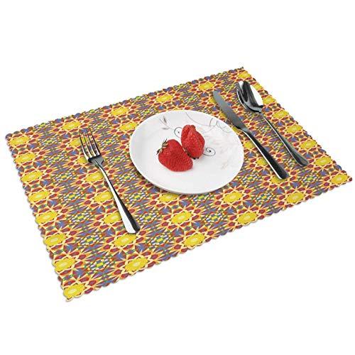 Set De Table en 4 Pcs, Napperons Lavable, Antidérapant, Tapis De Table Résistant à La Chaleur, Table à Manger en Cuisine Ou Salle à Manger, Soleil à l'intérieur de la Culture des Fleurs Placemats