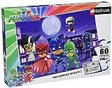 Nathan PJ Masks Puzzle-Pyjamasques Contre Les Super Méchants-60 Pièces, 86585