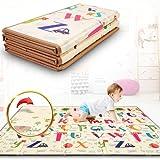 Alfombra Gateo Infantil Impermeable, Reversible y Plegable 180x200x1,5cm. Certificado CE. Esterilla Bebe Ideal para la habitación del niño o la niña. Gran formato SUPERBE BEBE