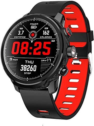 TYUI Reloj inteligente Fitness Tracker Ip67 impermeable Bluetooth reloj deportivo actividad Tracker pulsera con podómetro cronómetro adecuado para hombres y mujeres-rojo