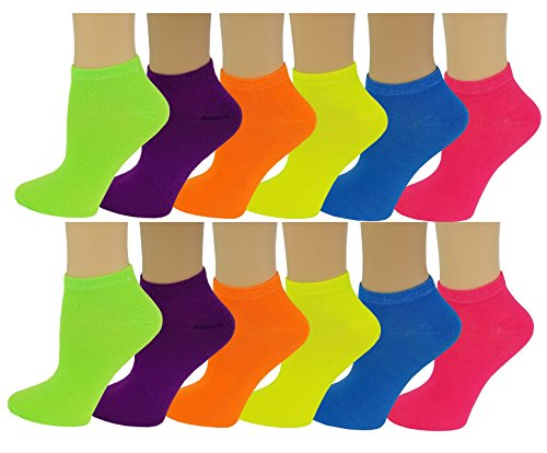 Neon Colored Ankle Socks
