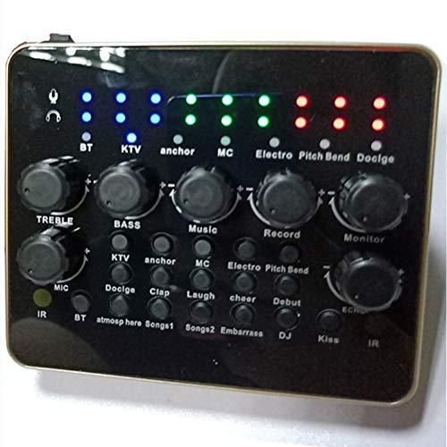 YYZLG V10 mobiele telefoon geluidskaart Computer Live Karaoke, Mixer Opname Usb Audio Interface Intelligente Verstelbare geluidskaart met een verscheidenheid van interessante geluid