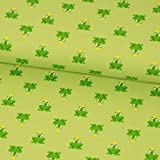 Baumwolljersey grün Frösche Kinderstoffe Modestoffe -