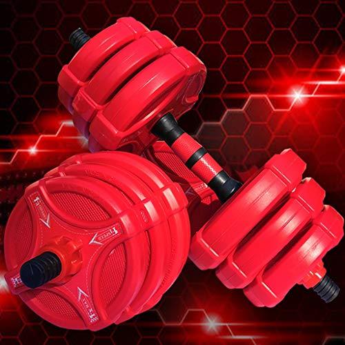 Hanteln dumbbell Männliche Und Weibliche Rote Fitnesshanteln Gewichtheberausrüstung Für Jugendliche Langhantel Für Heimarmübungen Kniebeugen-Kettlebell-Set Mit Dünnem Arm ( Color : Red , Size : 15kg )