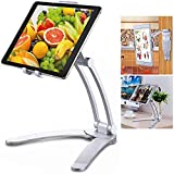April Story Universal Lazy Bracket Wall Mobile Phone Holder Tablet Stand 2-in-1 Desktop Pull-Up