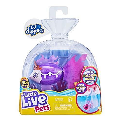 """Einzelpackung Lil' Dippers von Little Live Pets– Seaqueen -Lil' Dippers von Little Live Pets mit """"Wow""""-Effekt beim Auspacken im Wasser und interaktivem Füttern"""