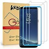 KKTICK Protector Pantalla Samsung Galaxy S8, Cristal Templado Samsung Galaxy S8 [Alta Definicion] [9H Dureza] [Sin Burbujas] [Anti-Huella Digital] Vidrio Templado- 2 Pack