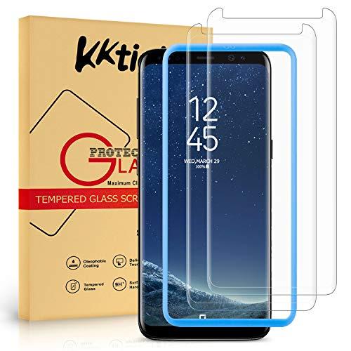 KKTICK Pellicola Protettiva per Samsung Galaxy S8 Vetro Temperato, 3D Curvo Copertura Pellicola Protettiva in Vetro Temperato per Samsung Galaxy S8 [9H Durezza, Alta Definizione]