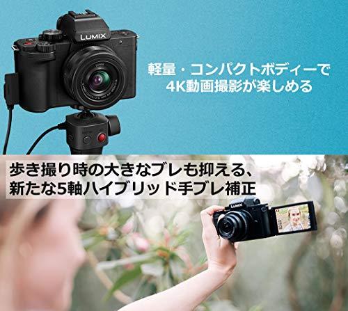 パナソニックミラーレス一眼カメラルミックスG100K標準ズームレンズキットブラックDC-G100K-K