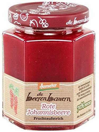 Die Beerenbauern Bio Roter Johannisbeer Fruchtaufstrich (6 x 200 gr)