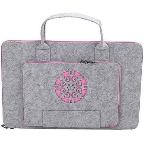 Jaimenalin Super Light Carved Wool Felt Laptop Bag For Computer Bag Notebook Case(17Inch)