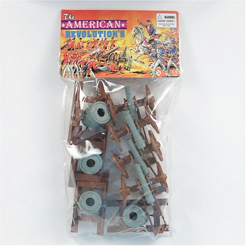 8 Piece Set of Cannon and Mortar Artillery for 48mm-60mm Plastic Army Men by Americana Souvenirs