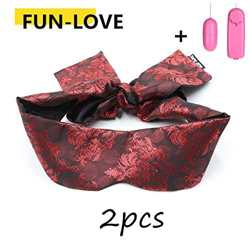 Gafas de seda chinas con gafas de satén máscara para los ojos + varita...