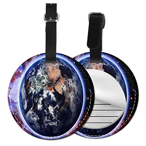 Etiquetas para Equipaje Bolso ID Tag Viaje Bolso De La Maleta Identifier Las Etiquetas Maletas Viaje Luggage ID Tag para Maletas Equipaje Planeta Tierra Estrellas Espacio Galaxy