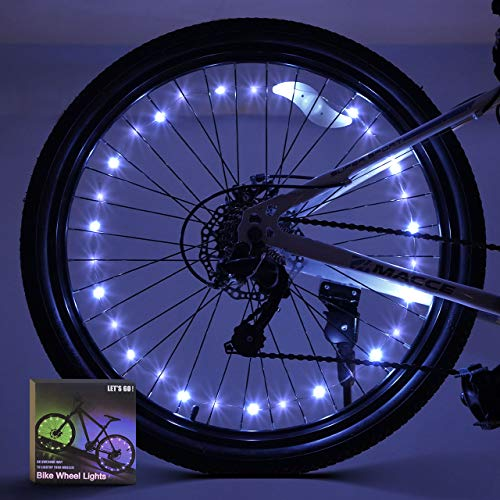 ATOPDREAM 3-6 Year Old Boy Toys, Bike Wheel Lights 2 Tire Pack Wheel Lights for Bikes Xmas Gifts for Kids 8-10 Stocking Fillers for Boys (White)