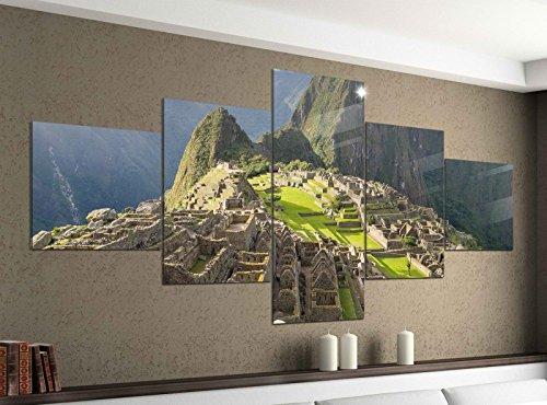 Acrylglasbilder 5 Teilig 200x100cm Machu Picchu Ruinenstadt Peru Inka Druck Acrylbild Acryl Acrylglas Bilder Bild 14F947, Acrylgröße 11:Gesamtgröße 200cmx100cm