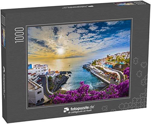 Puzzle 1000 Teile Sonnenaufgang in Puerto de Santiago Stadt, Teneriffa, Kanarische Insel, Spanien