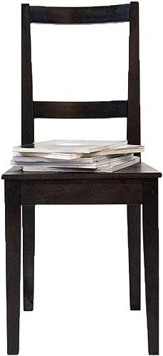 Chaise Fauteuil Siège Chaises Chair Chaise D'étude en Bois Massif, Salon Moderne Simple ZHANGAIZHEN (Couleur   Noir)