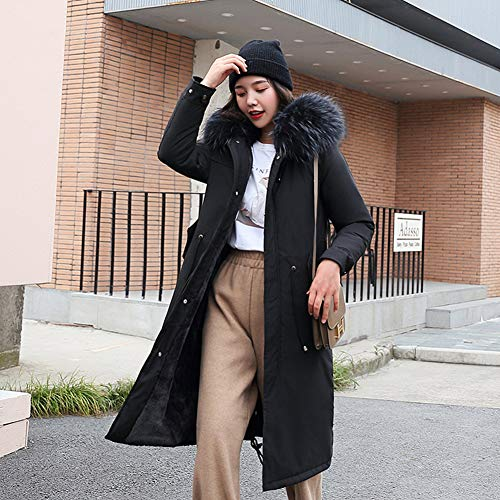 Yiwa dameskleding, winterjas, vrijetijdskleding, met capuchon, katoen-lamswol, voor dames