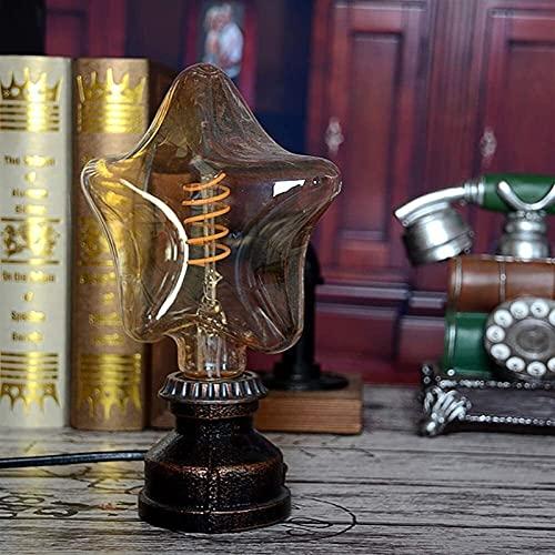 CMMT Lampada da scrivania Barrette di Ferro Lampada Semplice da Tavolo caffè Ristorante Bar Lampada a Retro-Lampada a Vista Morbida