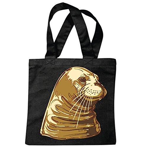 sac à bandoulière SEA LION SEAL LIFESTYLE FASHION STREETWEAR HIPHOP SALSA LEGENDARY Sac école Turnbeutel en noir