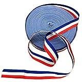 45metros rojo blanco y azul de rayas grogrén cinta americana bandera patriótica Ribbon accesorio para hacer regalo