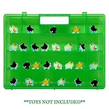 Life Made Better Reinforced Green Toy Storage Carrying Box Figures Playset Organizer Compatible with Chubby Puppies Accessories for Kids LMB