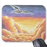 Yanteng Präzisionsnaht, robuste Gaming-Mauspad, Mousepad Goldene Wolken Flying Dragon Painting Print Mouse Mat