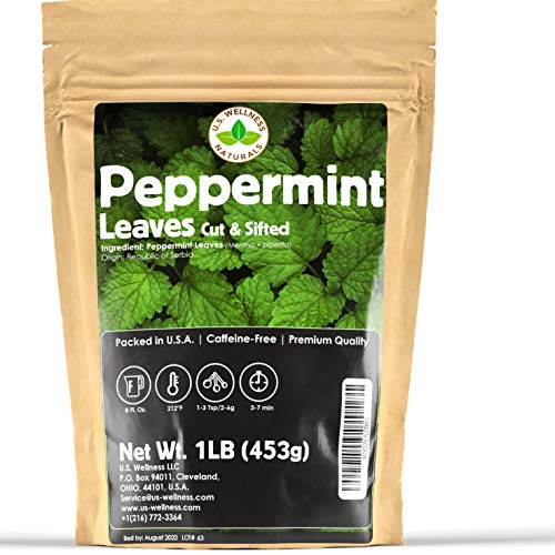 Peppermint Tea 1LB (16Oz), Cut & Sifted | STRONG & FRESH | Non-irradiated, 200+ Cups, Peppermint...