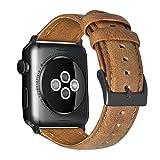 Armband für Apple Watch 42mm(44mm Series 5/4), Apple Watch Armband Leder Armband Vintage Echtleder Uhrenarmband für iWatch Series 5 Series 4, Series 1, 2, 3, Apple Watch Sport Edition und Nike+