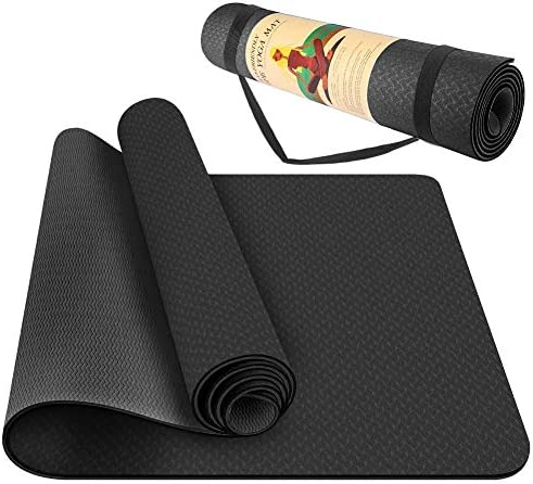 StillCool TPE Yoga Mat Non Slip Fitness Exercise Mat High Density Padding to Avoid Sore Knees product image