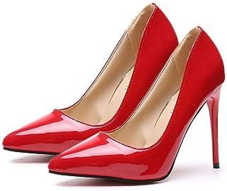 TONMOON Women's Classic Slip-on Pumps High Heels Pointy Toe Elegant Stiletto Heels Heel Shoes